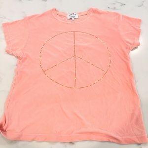 wildfox kids Soft Orange Peace Sign Shirt ✌🏽